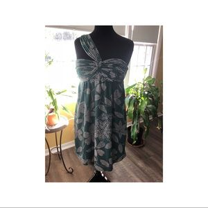 BCBGMaxaZria Strapless Mid Length Dress